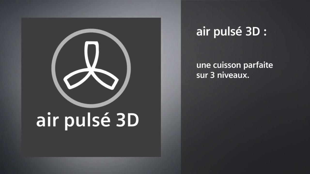Four Air Pulsé Ou Chaleur Tournante air pulsé 3d : cuisson sur 3 niveaux