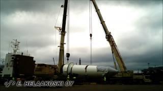 E. Helaakoski Oy, Lifting of Kingpost & Testbase - Timelapse video