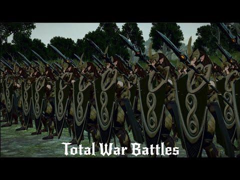 Wood Elves Vs Beastmen | 12,000 Unit Cinematic Battle | Total War Warhammer 2 |