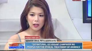 News to Go - Howie Severino interviews vegan advocate Geneva Cruz 4/12/11