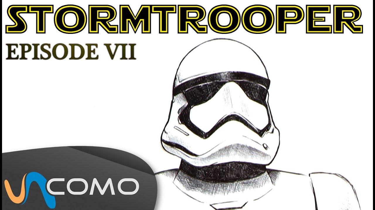 Dibujar un soldado imperial - Stormtrooper - YouTube