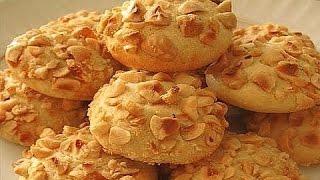 видео Медовое песочное печенье из кукурузной муки с грецкими орехами