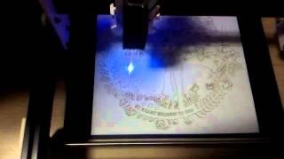 GRBL v0.9 500mw Mini Laser Engraver Test 4
