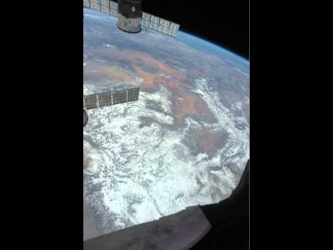 Space Station over Central United States in Daytime