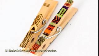 Make Colorful Decorated Wooden Clothespins - Diy Home - Guidecentral