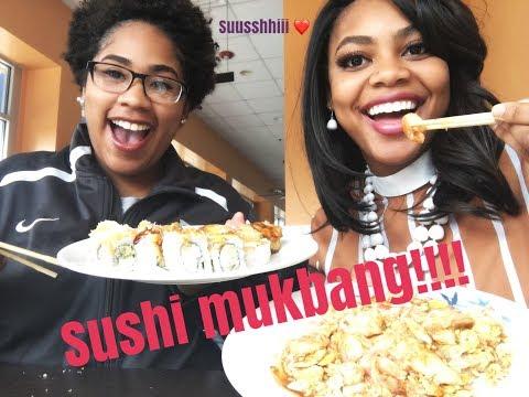 SUSHI MUKBANG!!!! at Kaminari Sushi & Hibachi Grill