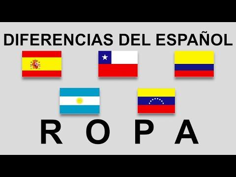 Diferencias del español. Ropa. #smart