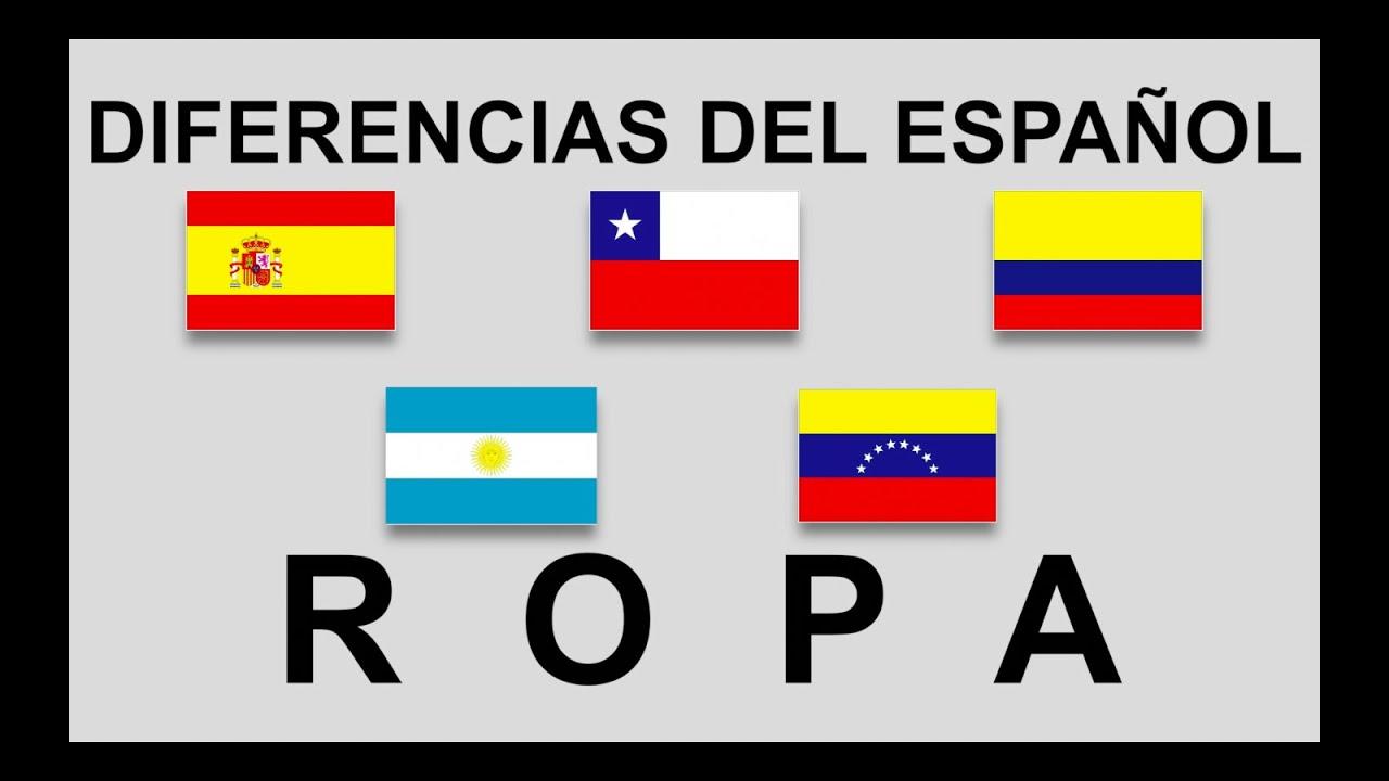 Diferencias Del Español Ropa Smart