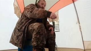 Самодельный обогреватель для зимней палатки ( из банки )