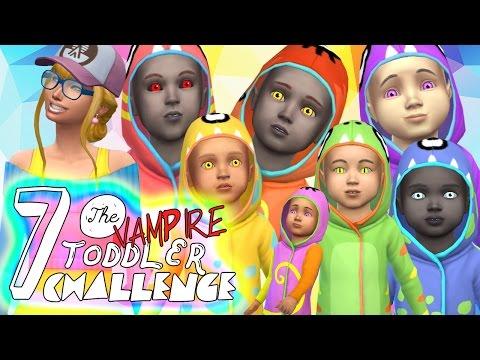 7 VAMPIRE Toddler Challenge! *New* Sims 4 VAMPIRES DLC