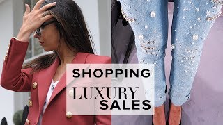 BUYING DESIGNER CLOTHES IN THE HARRODS SALE! | VLOG | Sophie Shohet
