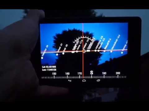 Android app : Locating geostationary satellites (Augmented Reality demo)