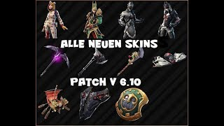 ALL NEW SKINS in Patch v 6.10 / Arachne / Spider Knight & Co. / Fortnite Battle Royale