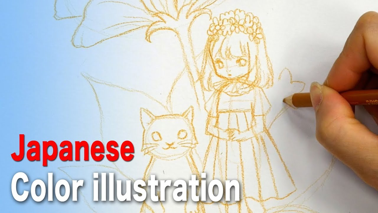 Drawing a balanced pencil sketch|japanese professional illustrator