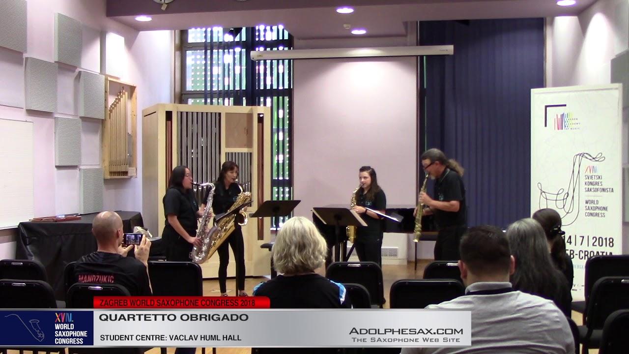 Sunburst Carousel by Philip Schuessler   Quarteto Obrigado   XVIII World Sax Congress 2018 #adolphes