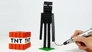 DIY 3D ЭНДЕРМЕН МАЙНКРАФТ! РИСУЮ 3D РУЧКОЙ   3D PEN MINECRAFT
