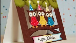 Two Step Owl Punch Window Card