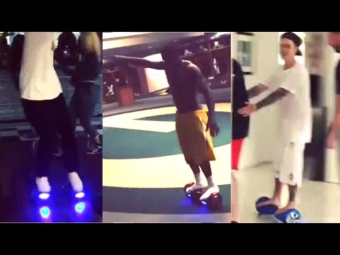 A hoverboard in action