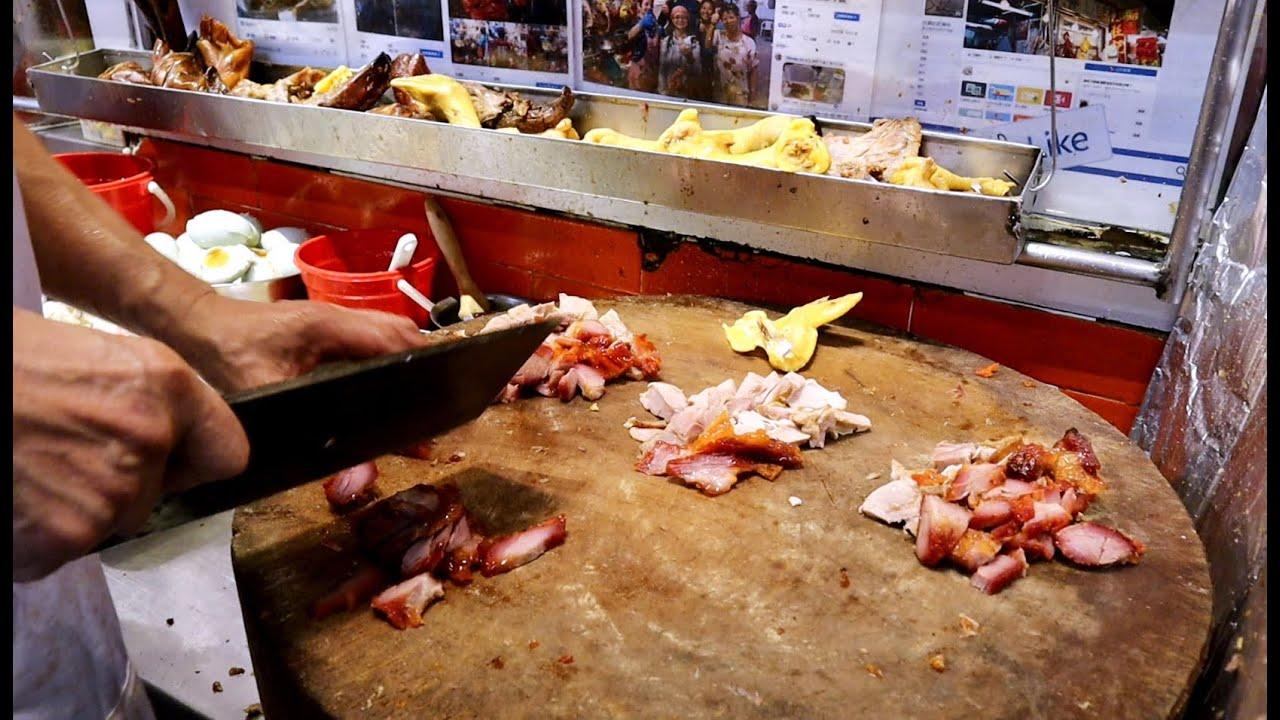 香港美食 切雞 叉燒 燒鴨 燒肉 無人不喜歡 旺記燒臘專家 西貢 - YouTube