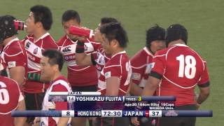 2014 Top 5 Finale - Japan vs Hong Kong RWC Qualifier (2nd Half)
