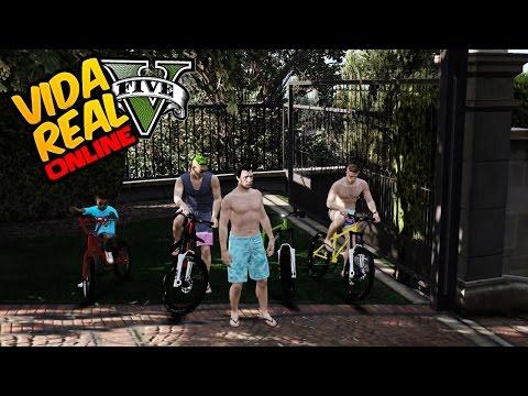 GTA V : Vida Real 🔴NLINE - Passeio Na Praia Com MLK Chave & Amigos (#152)