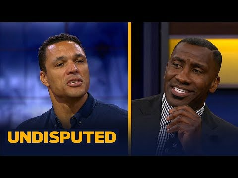 Tony Gonzalez and Shannon discuss who was a better TE while comparing Gronk and Kelce | UNDISPUTED