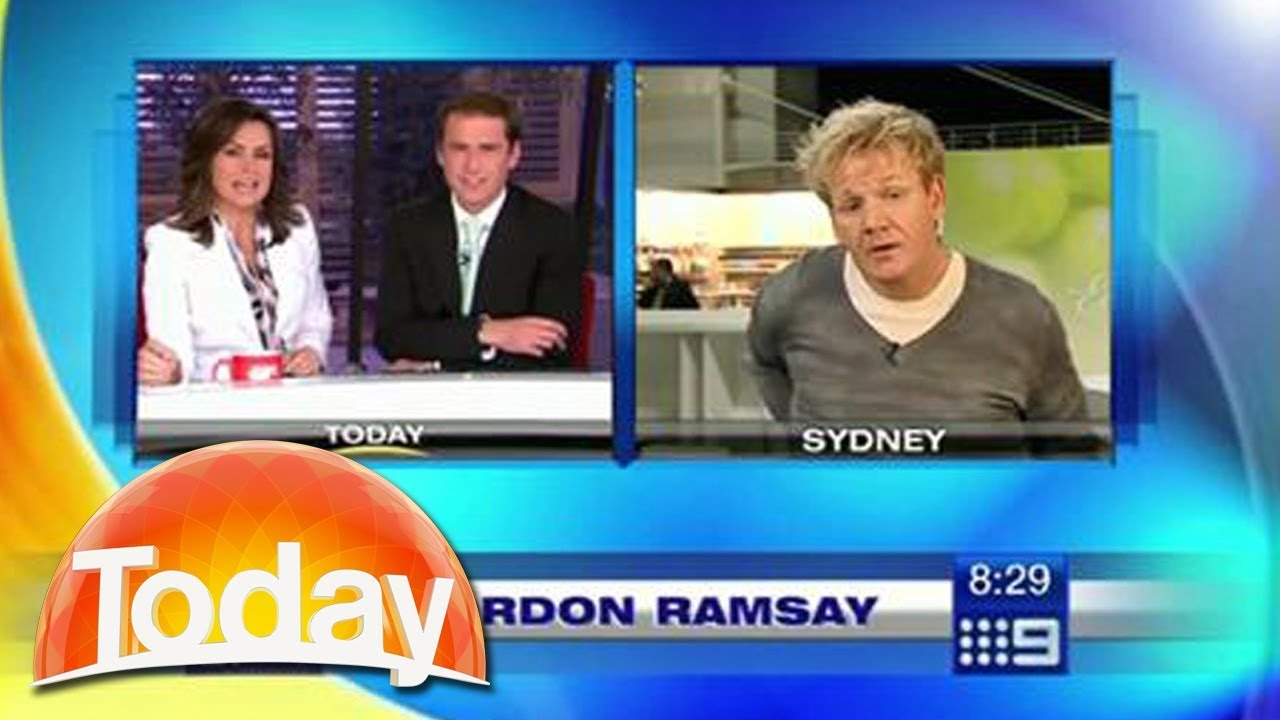 """Download Gordon Ramsay walks out of live interview - """"Can you stop f***ing around"""""""