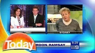 """Gordon Ramsay walks out of live interview - """"Can you stop f***ing around"""""""