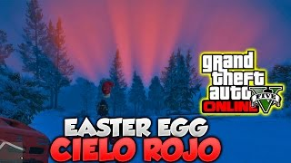 GTA V Online Easter Egg Cielo Rojo Efecto Meteorologico GTA 5 Online