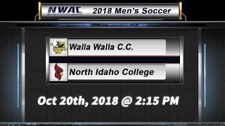 2018 Men's Soccer: Walla Walla C.C. vs North Idaho College