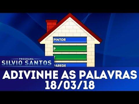 Adivinhe as palavras | Programa Silvio Santos (18/03/18)