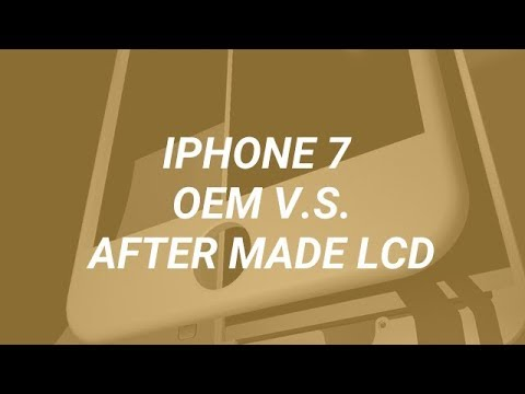 The Comparison of iPhone 7 China made Screen and OEM Screen