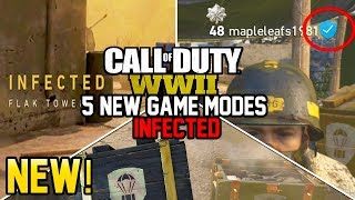 5 NEW GAME MODES - INFECTED!  SECRET FEATURE REVEALED BY SLEDGEHAMMER! (Call of Duty WW2)
