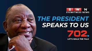 African National Congress leader and President Cyril Ramaphosa speaks to Eyewitness News and 702 in a wide-ranging interview.  #Ramaphosa #ANC #Covid19news