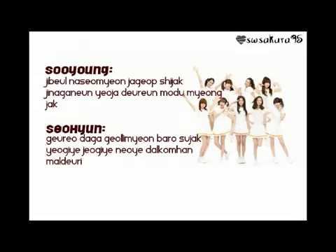 SNSD- Echo [ Instrumental & Korean Lyrics ]