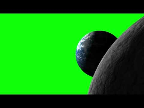 Earth - Moon Green Screen thumbnail