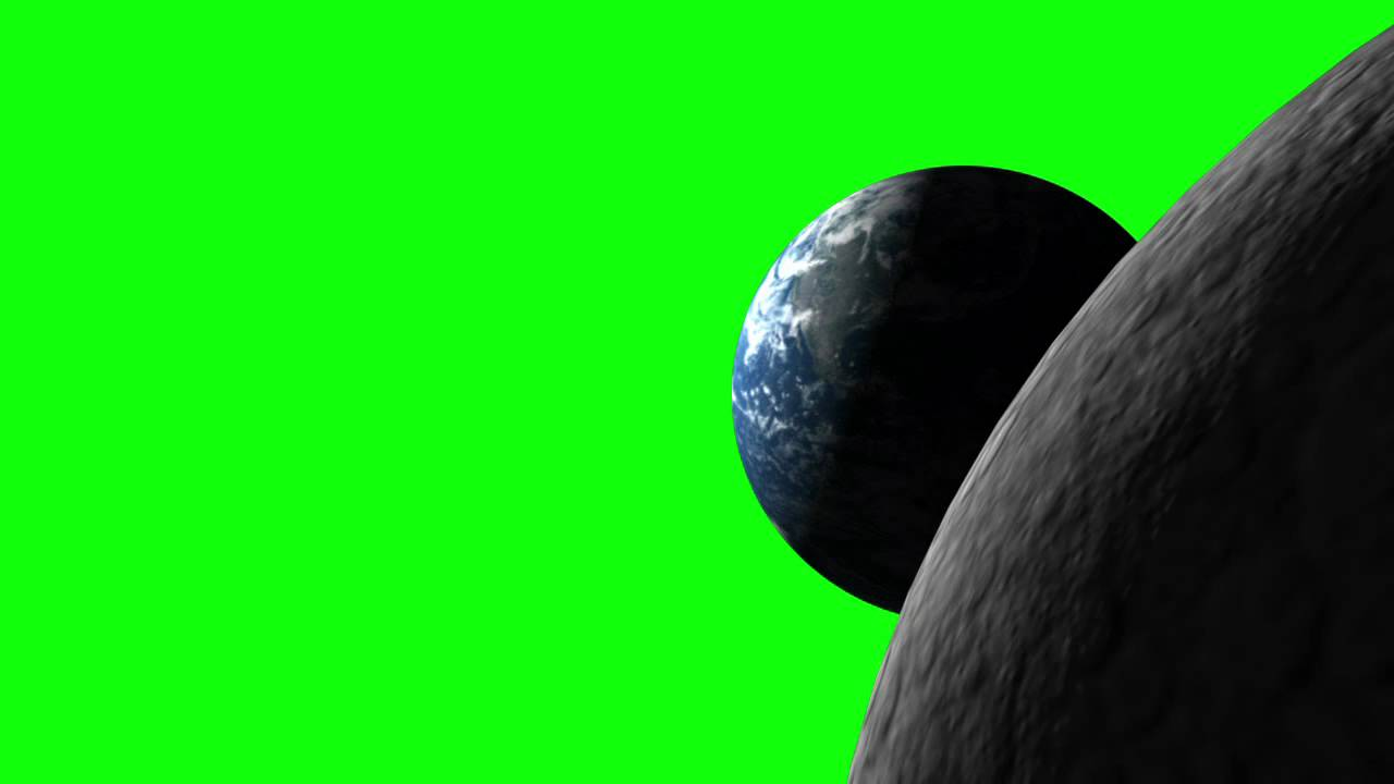 Earth Moon Green Screen Youtube