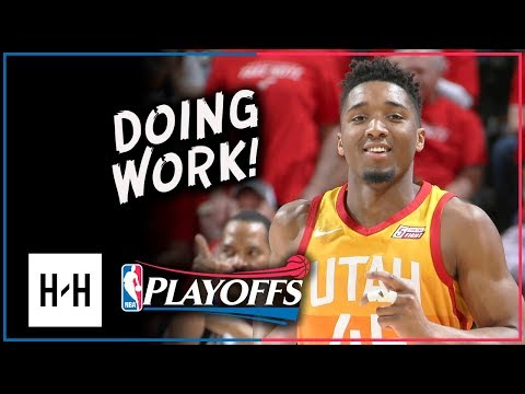 Donovan Mitchell Full Game 3 Highlights Jazz vs Thunder 2018 Playoffs - 22 Pts, 11 Reb, SICK!