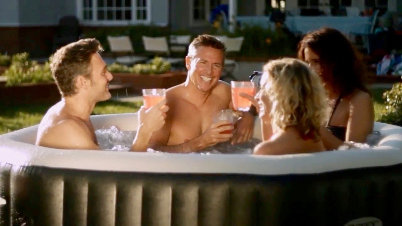 Portable Inflatable Hot Tub Intex Purespa Deluxe Nice Youtube
