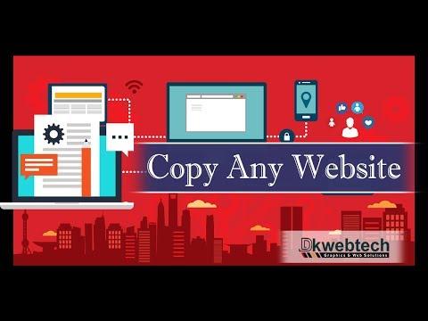 Copy any HTML Website