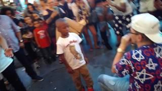 Dylan Jacob 15 year old Freestyles on Fremont Las Vegas