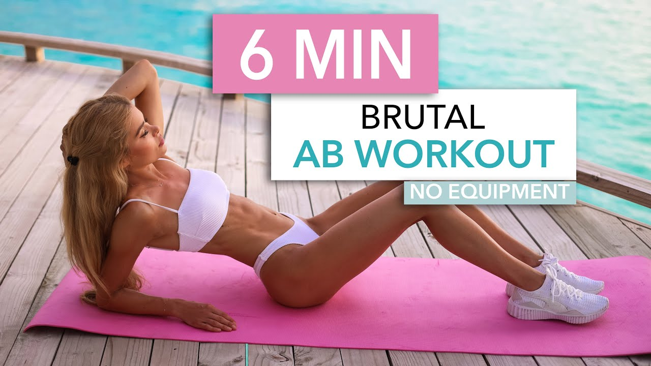 10 MIN ABS + FAT BURN - Floor Edition / burn fat to see the abs you train I Pamela Reif