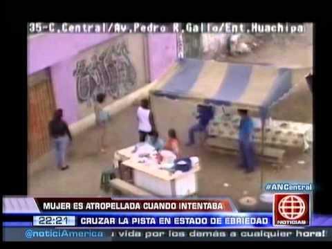 América Noticias: Cámara de registró pelea entre mujeres: una de ellas fue atropellada