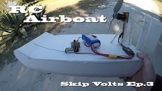 Homemade Foam Board RC Airboat Test Run