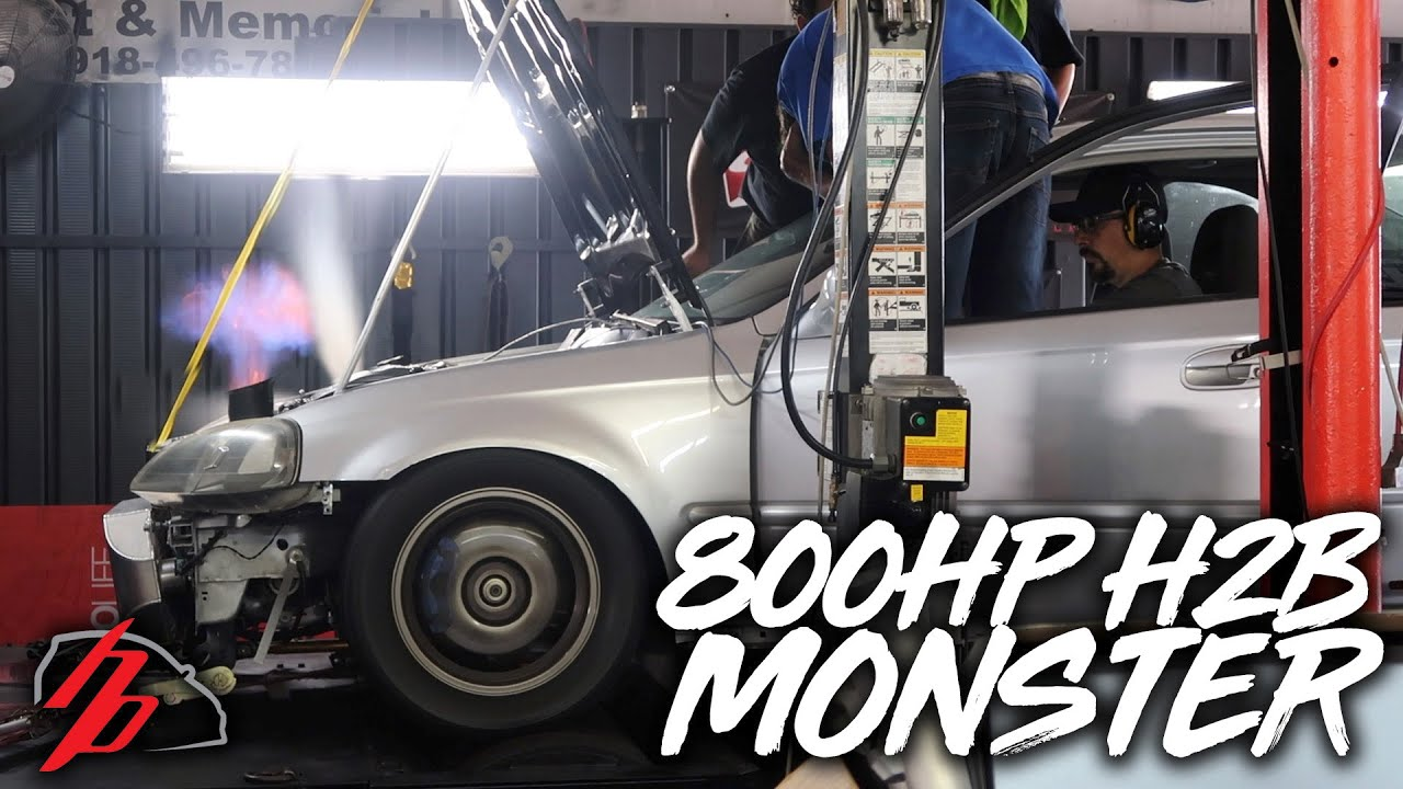 Honda Civic with a 821 whp Turbo H22 Inline-Four – Engine