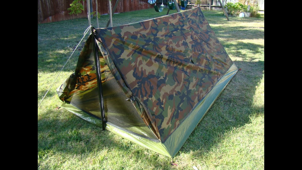 2 Person 3.5 Pound $30.00 Camo Tent - Texsport Trail Tent & 2 Person 3.5 Pound $30.00 Camo Tent - Texsport Trail Tent - YouTube