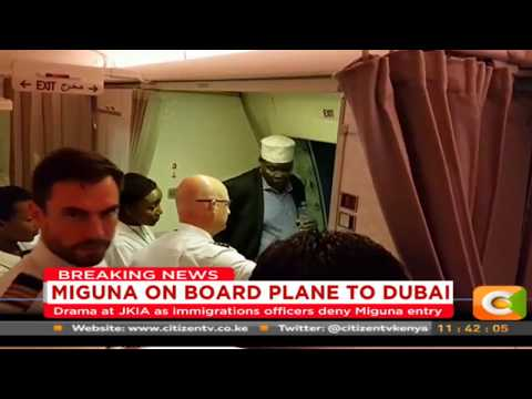 Miguna Miguna beaten by Kenyan security officials on arrival to the country at JKIA.