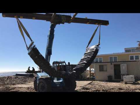Triton® Marine Mattress Filling using JLS Contracting Crew Members