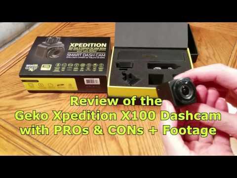 Review Geko Xpedition X100 Xplore C1 Dash Cam