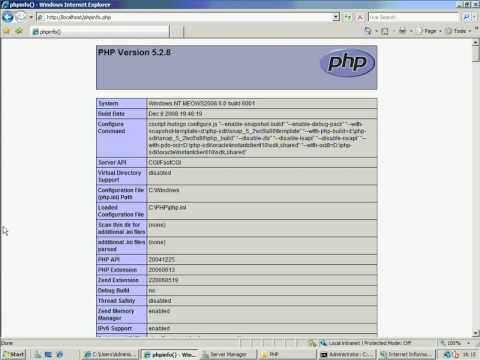 Configuring FastCGI on IIS7 to host PHP Applications Part 2